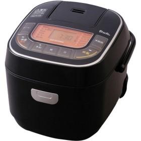 アイリスオーヤマ マイコン式ジャー炊飯器 黒 RC-MC30-B 3合炊き 米屋の旨み 銘柄炊き