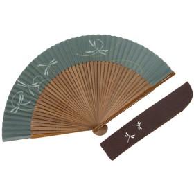 【白竹堂】紳士扇子 京扇子 紙扇子 焼煤絹張 とんぼ