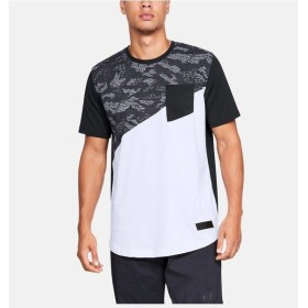 (セール)UNDER ARMOUR(アンダーアーマー)バスケットボール メンズ 半袖Tシャツ 18F UA SC30 GRAPHIC TEE 2 1317418 001 メンズ BLK/WHT/BLK