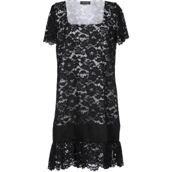 《セール開催中》TWINSET レディース ミニワンピース&ドレス ブラック 40 ナイロン 66% / コットン 34%
