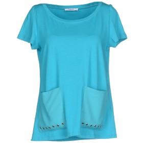 《期間限定 セール開催中》LIU JO レディース T シャツ ターコイズブルー XS コットン 95% / ポリウレタン 5%