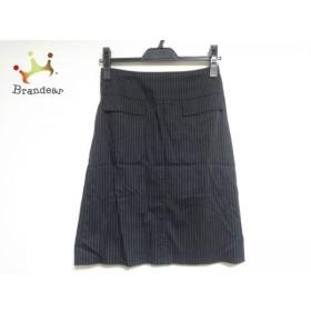 ニジュウサンク 23区 スカート サイズ1 S レディース 美品 黒×白 ストライプ     スペシャル特価 20190527