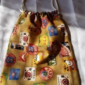 巾着袋いろいろあります。 オリジナルの袋も作るよ。 布とかは、相談に載ります‼