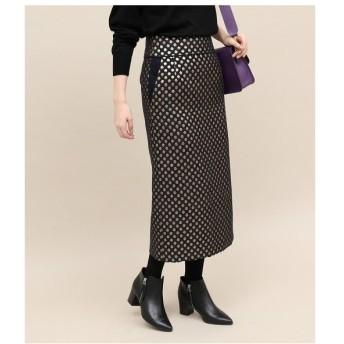 ROPE' / ロペ ドットジャガードタイトスカート