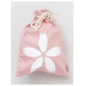 【カヤ】くるみ巾着大 桜