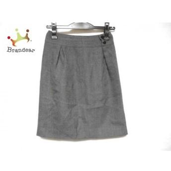ニジュウサンク 23区 スカート サイズ30 XS レディース ダークグレー スペシャル特価 20190508