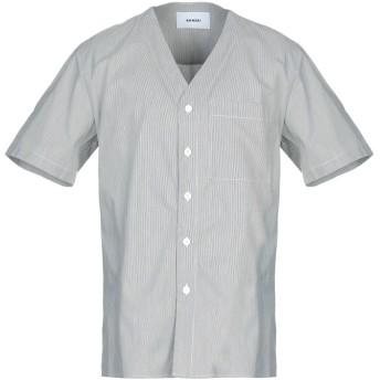 《9/20まで! 限定セール開催中》BONSAI メンズ シャツ ブラック M コットン 100%