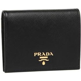 【送料無料】プラダ 折財布 レディース PRADA 1MV204 QWA F0002 ブラック