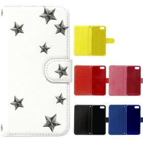 スマホケース - MERCURY MILY スマホケース 手帳型 iPhone7 ケース iphone8 【 星柄 5種 】おしゃれ かわいい 両面印刷 手帳 ケーススマホケース iphone8,7共通対応