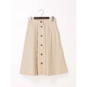 ひざ丈スカート - Te chichi タイプライター前釦タックフレアスカート