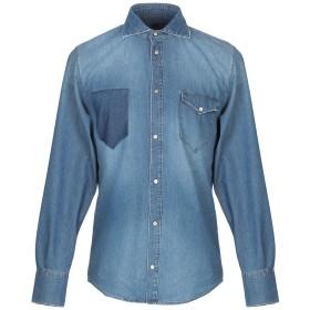 《期間限定セール開催中!》(+) PEOPLE メンズ デニムシャツ ブルー 39 コットン 100%