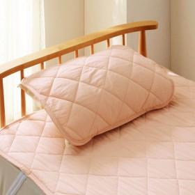 綿素材の涼感リバーシブル枕パッド カラー 「ピンク」
