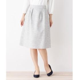 3can4on / サンカンシオン 【4(LL)WEB限定サイズ】ミックスカルゼツイードスカート