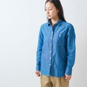 HANDROOM WOMEN'S コットンリネン ダンガリーシャツ【ラスト1点Sサイズのみ】