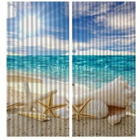 3D デジタル印刷 遮光カーテン 窓カーテン パネル 家庭用品 窓 装飾 全18デザイン選べる - ヒトデ