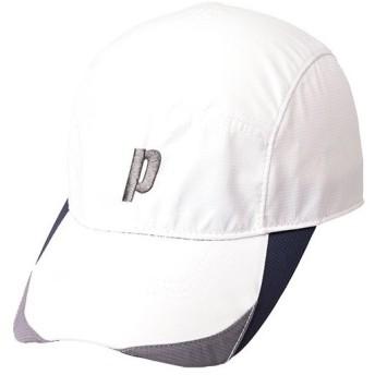 プリンス(Prince) メンズ レディース テニスウェア ジャストフィットキャップ ホワイト/グレー PH571 203 帽子 日焼け予防 日よけ スポーツ アクセサリ