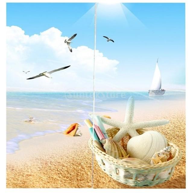 3D 海の景色 窓カーテン 遮光 ウィンドウカーテン リビングルーム 装飾 新築祝い 全15パターン  - シーガル, 166x150cm