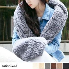 即納 新作 マフラー ボア ロングマフラー ファッション雑貨 韓国 ファッション / ボアボリュームマフラー