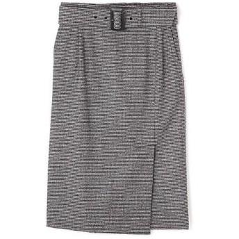 PINKY & DIANNE / ピンキーアンドダイアン ウールチドリサイドベンツスカート