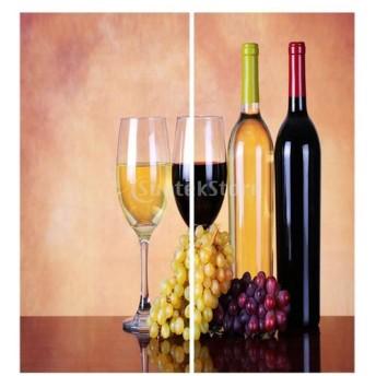 3D デジタル印刷 遮光カーテン 窓カーテン パネル 家庭用品 窓 装飾 全18デザイン選べる - ワイン
