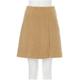 MURUA フロントスリット台形スカート(ブラウン)