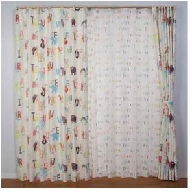 【お取寄せ商品】ユニベール Birdie 形状記憶カーテン どうぶつのなまえ 100×135cm 2枚組