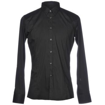 《セール開催中》SIMBOLS メンズ シャツ ブラック L コットン 68% / ナイロン 30% / ポリウレタン 2%