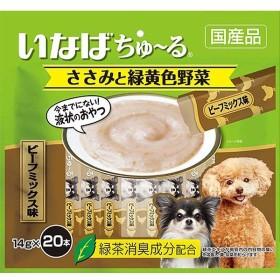 いなば 犬用ちゅ〜る ささみと緑黄色野菜 ビーフミックス味 14g×20本[ちゅーる]