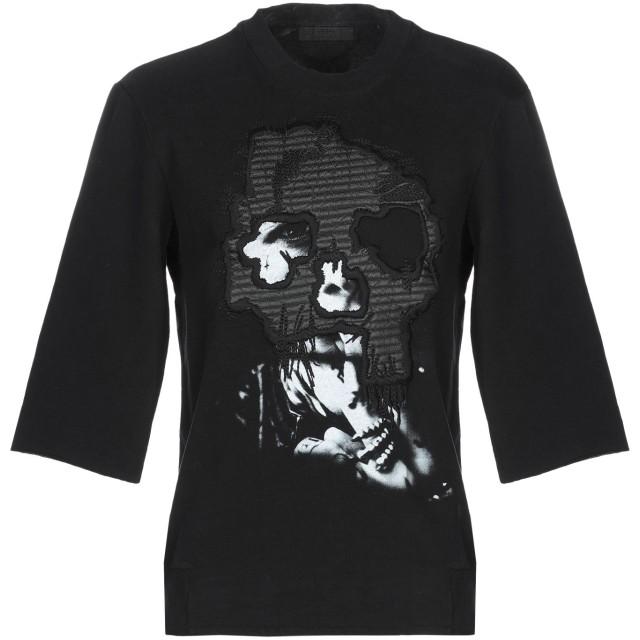 《期間限定 セール開催中》RH45 RHODIUM メンズ スウェットシャツ ブラック S コットン 100% / ポリウレタン / 山羊革