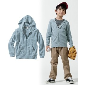 無地ジップアップパーカー(男の子。女の子 子供服。ジュニア服) (はおりもの)