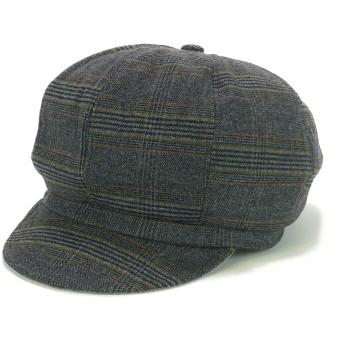キャスケット - Smart Hat Factry <秋冬新作>Bellugaグレンチェックキャスケット ヤング 帽子