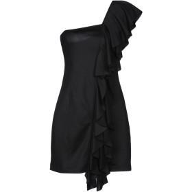 《期間限定セール開催中!》DONDUP レディース ミニワンピース&ドレス ブラック S コットン 50% / ポリエステル 50%