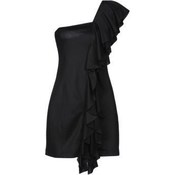 《セール開催中》DONDUP レディース ミニワンピース&ドレス ブラック S コットン 50% / ポリエステル 50%