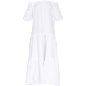《セール開催中》ROBERTO COLLINA レディース 7分丈ワンピース・ドレス ホワイト XS コットン 100%