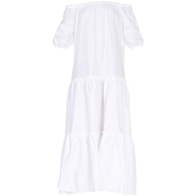 《期間限定セール開催中!》ROBERTO COLLINA レディース 7分丈ワンピース・ドレス ホワイト XS コットン 100%