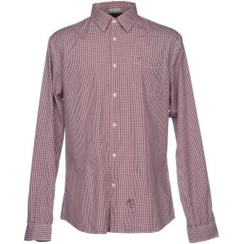 《セール開催中》SCOTCH & SODA メンズ シャツ ボルドー XL コットン 100%