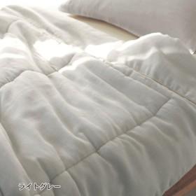 ベルメゾンデイズ 繊細ガーゼのキルトケット カラー 「ライトグレー」