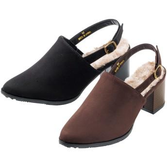 【格安-女性靴】レディースストラップ付太ヒールサンダル