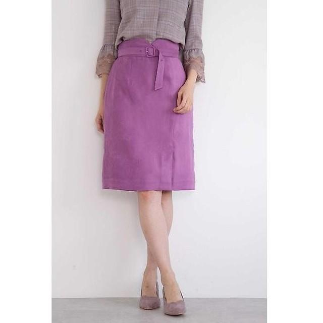 PROPORTION BODY DRESSING / プロポーションボディドレッシング  シルキーフェイクスウェードタイトスカート