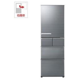 (標準設置 送料無料) アクア 415L 5ドア冷蔵庫(チタニウムシルバー)(右開き) AQUA SVシリーズ AQR-SV42H-S 返品種別A