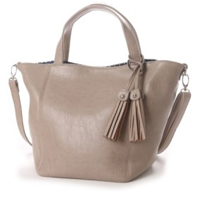 【大きいサイズレディース】色展開豊富な2WAY合皮トートバッグ(サブバッグ付)(アマレット) バッグ・財布・小物入れ トートバッグ