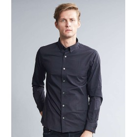 5351プール・オム ウルトラヴェールドビードレスシャツ メンズ ブラック 46 【5351POUR LES HOMMES】