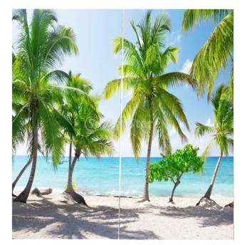 3D 海の景色 窓カーテン 遮光 ウィンドウカーテン リビングルーム 装飾 新築祝い 全15パターン - ココナッツの木, 166x150cm