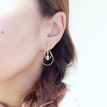 【e_009】tear drop parts/pearl.