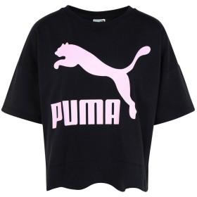 《セール開催中》PUMA レディース T シャツ ブラック XS コットン 100% Scallop Tee