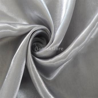生地 窓カーテン カーテン サテンカーテン 薄い 紫外線遮断 断熱 家庭/店舗用 黒い 4色2サイズ選べる - グレー, 150x250cm