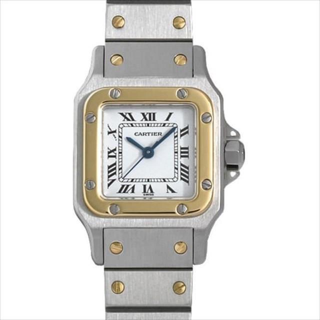 aa5a19e6fb 48回払いまで無金利 カルティエ サントスガルベ SM 中古 レディース 腕時計