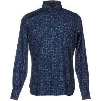 《セール開催中》LARUSMIANI Milano メンズ シャツ ダークブルー 42 コットン 100%