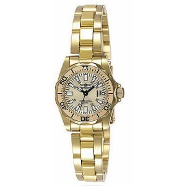 【当店1年保証】インヴィクタInvicta Signature Collection Women's Pro Diver 23K Gold Watch