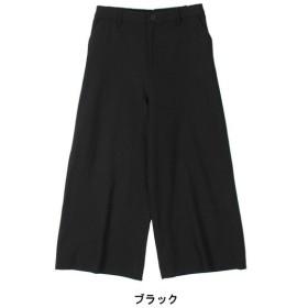 パンツ レディース ワイドパンツ ルーズパンツ 裏起毛ワイドパンツ LL〜5L  「ブラック」